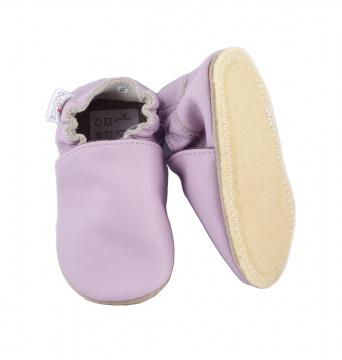 Zvětšit BABICE kožené topánočky - BA-143 lilac SAFESTEP, 01