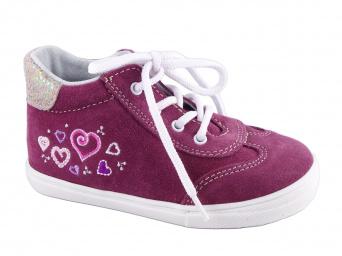 Zvětšit JONAP J011/S srdce - vínová, detská celoročná obuv