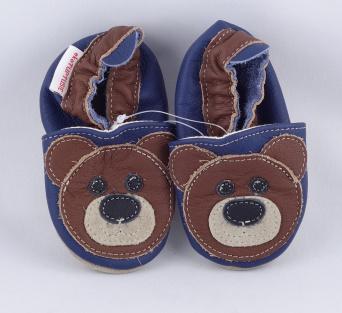 Zvětšit FIORINO ekoTUPTUSIE kožené topánočky - MEDVEĎ modrý