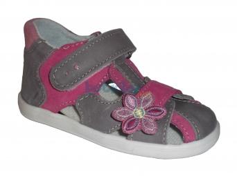 Zvětšit JONAP - J035/M šedá/růžová, 01 dievčenské letné topánky